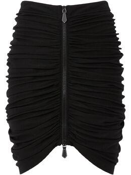 Burberry юбка мини со сборками 4564358