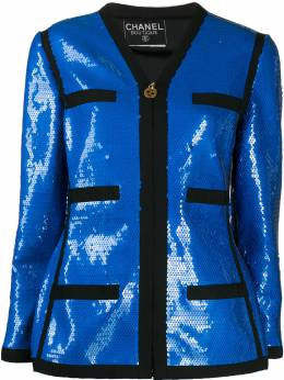 Chanel Pre-Owned пиджак 1991-го года с пайетками CHA4800C