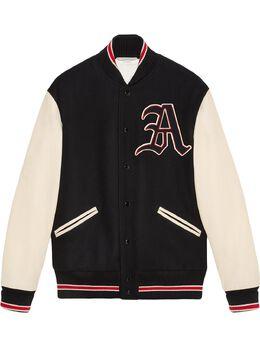 Gucci куртка-бомбер с нашивкой 545590ZAAH1