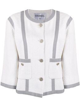 Chanel Pre-Owned укороченный твидовый жакет 2010-х годов CHA1800AL