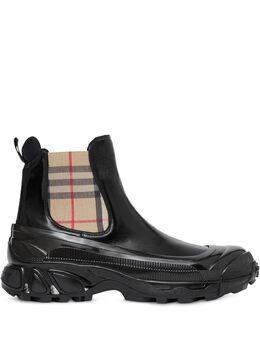 Burberry ботинки со вставками в клетку Vintage Check 8021801