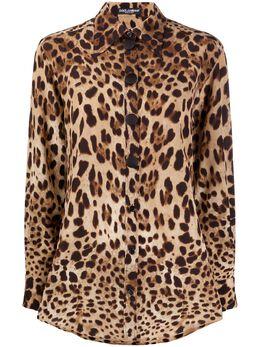 Dolce&Gabbana блузка с леопардовым принтом F5N20TFS1SY