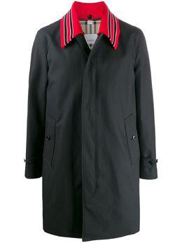 Burberry пальто со съемным воротником 8023680
