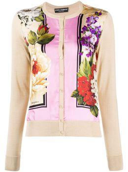 Dolce&Gabbana кардиган с цветочным принтом FX619TJASKK