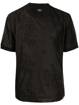 Fendi футболка с тисненым логотипом FY0406AAOC