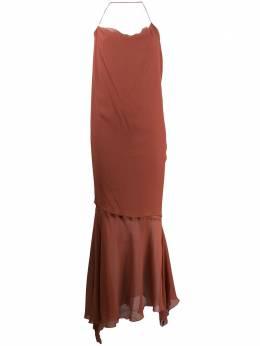Romeo Gigli Pre-Owned платье 1999-го года с оборками RGIG600M