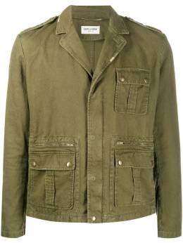 Saint Laurent куртка в стиле милитари с карманами карго 598812Y253Q