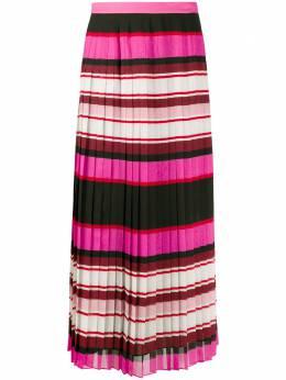 Valentino плиссированная юбка в полоску TB3RA5G553Y