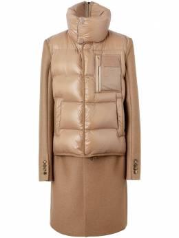 Burberry пальто строгого кроя с дутым жилетом 4559214