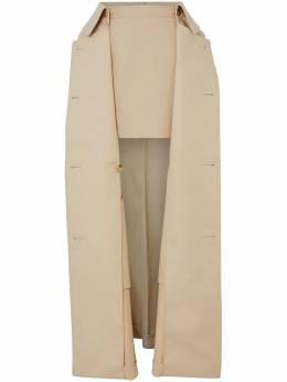 Burberry юбка-мини со съемным верхом в виде тренча 4564601