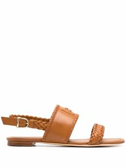 Tod's monogram braided flat sandals XXW37B0CL70D90S018