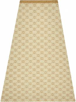 Gucci юбка миди с логотипом 605923XKAHT