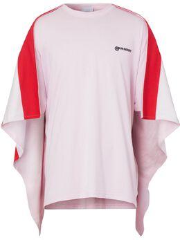 Burberry футболка оверсайз с полосатым кейпом 4563754