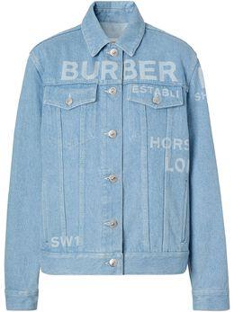 Burberry куртка из вареного денима с принтом 8026710