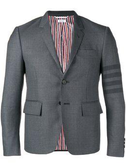 Thom Browne пиджак с 4 полосками на рукаве MJC159A04346