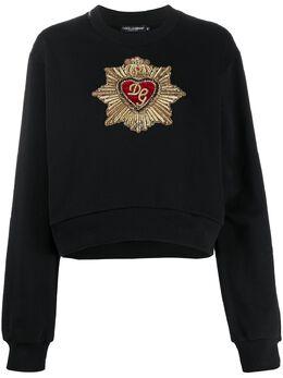 Dolce&Gabbana декорированная толстовка F9H76ZG7VVS