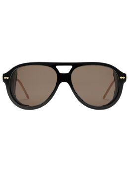 Gucci Eyewear солнцезащитные очки-авиаторы со съемными шорами 610379J0738