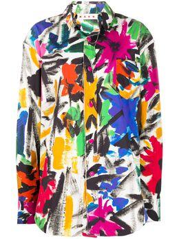 Marni рубашка с принтом CAMA0312Y0TCY87