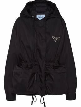 Prada куртка оверсайз на молнии с кулиской 291765S201I18