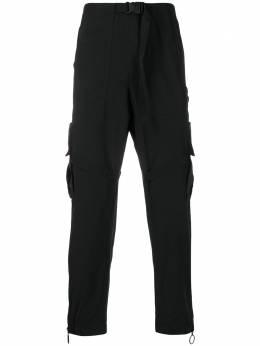 Off-White брюки карго прямого кроя OMCF004R20G380221001