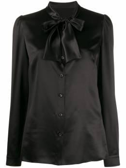 Dolce&Gabbana блузка с бантом F5L63TFU1AU