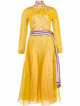 Fendi многослойное платье с принтом FDA660A8GL