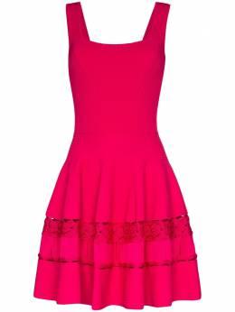 Alexander McQueen платье со вставками в технике кроше 610723Q1AL7