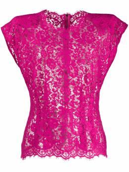 Dolce&Gabbana прозрачная блузка с цветочным кружевом F73Z5THLMHW