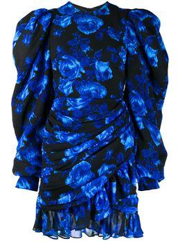 Richard Quinn платье мини с пышными рукавами и цветочным принтом RQSS2031000