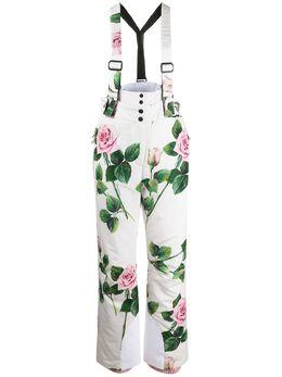 Dolce&Gabbana лыжные брюки с принтом Tropical Rose FTBNMTG7VDP