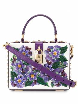 Dolce&Gabbana сумка Dolce Box с цветочной аппликацией BB5970AX029