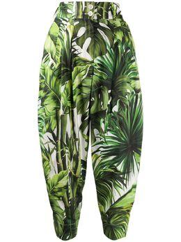 Dolce&Gabbana брюки с завышенной талией и принтом FTBS6THS5HD