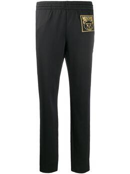 Moschino спортивные брюки Teddy Bear с вышивкой V03270529
