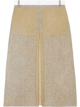 Burberry юбка А-силуэта со складками 4564446