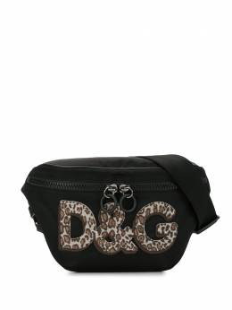 Dolce&Gabbana leopard logo belt bag BM1760B9M33
