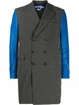 Junya Watanabe Man пальто с контрастными рукавами WDC003W19