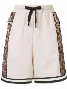 Dolce&Gabbana шорты с леопардовым принтом и логотипом I3B16WG7WEV