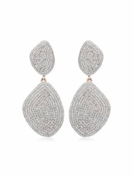 Monica Vinader RP Nura Double Teardrop Cocktail Diamond earrings RPEACD12DIA