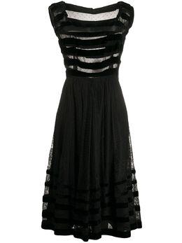 A.N.G.E.L.O. Vintage Cult кружевное платье 1950-х годов с прозрачными вставками ANG580B