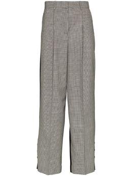 Givenchy брюки строгого кроя со вставками в клетку BW50J71309