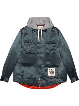 Gucci куртка-рубашка Worldwide с капюшоном 604112ZADKT