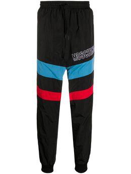 Moschino спортивные брюки с вышитым логотипом A03420221
