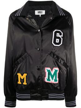 Mm6 Maison Margiela куртка-бомбер с нашивкой-логотипом S52AM0136S52534