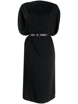 Mm6 Maison Margiela платье миди с драпировкой и поясом S62CT0091S43455