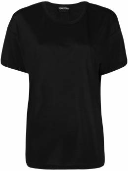 Tom Ford футболка с нашивкой-логотипом TSJ383FAX025