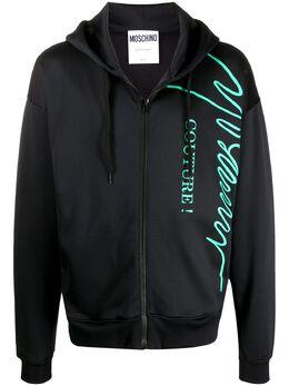 Moschino худи на молнии с логотипом A17160229