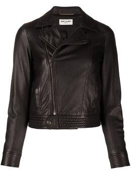 Saint Laurent байкерская куртка с косой молнией 605742YC2OC