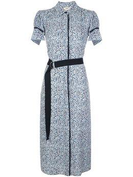 Jason Wu платье-рубашка с поясом и укороченными рукавами-кап JS2012013
