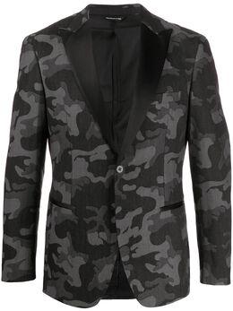 Tonello пиджак-смокинг с камуфляжным принтом 01G318K2199F