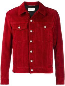 Saint Laurent короткая куртка на пуговицах 529949YCAM2